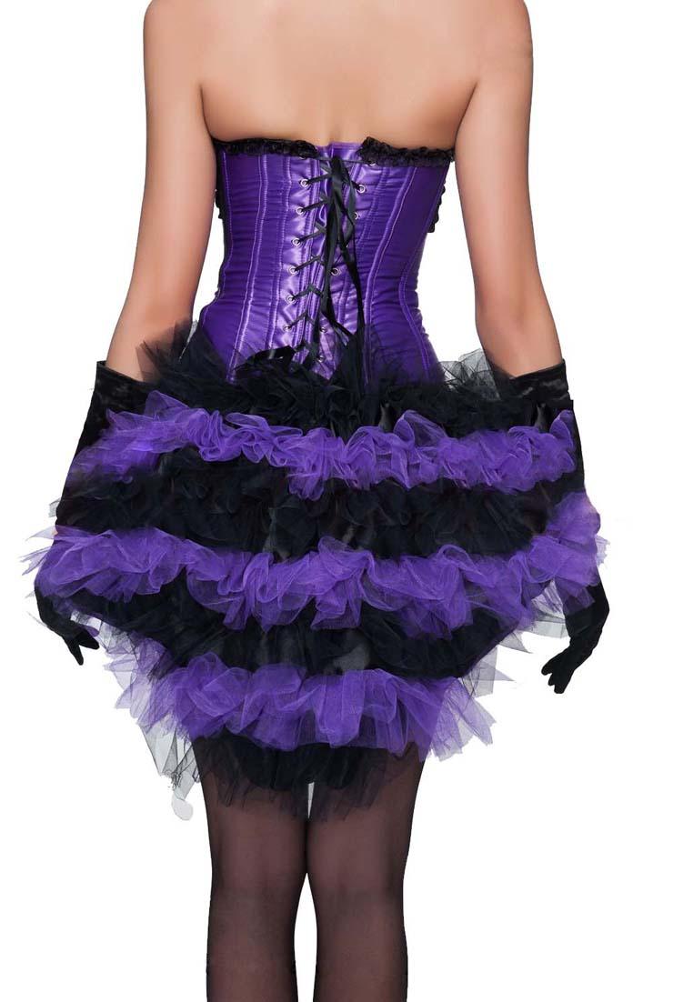 Sexy Black and Purple Skirt Petticoat, Cheap Ladies Petticoat, Party Dress Petticoat, Dancing Petticoat, Plus Size Petticoat, #HG10486