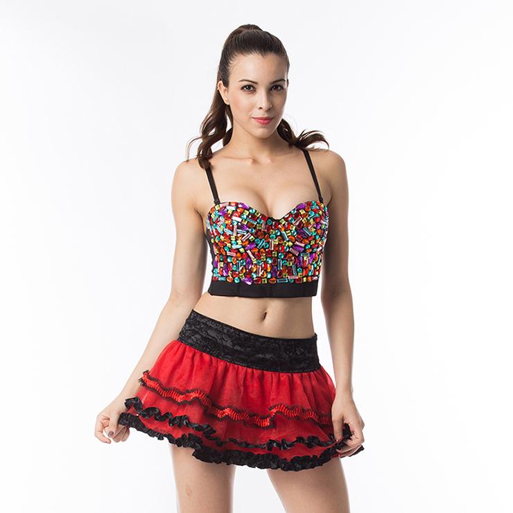Sexy Red Skirt Petticoat, Cheap Ladies Petticoat, Party Dress Petticoat, Dancing Petticoat, Plus Size Petticoat, #HG12673