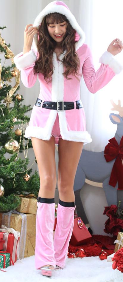 Hooded Velvet Mini Dress, Mini Dress Velvet, Hooded Santa Dress, Hooded Christmas Dress, Sexy Christmas Costume, Christmas Mini Dress, Christmas Long Sleeves Dress #XT18626