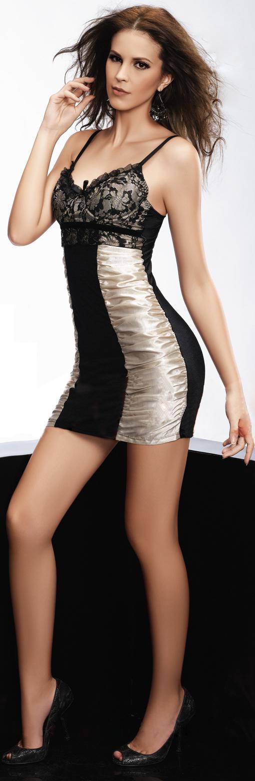 Sexy Contrast halter mini dress, dress, mini dress, #N2646