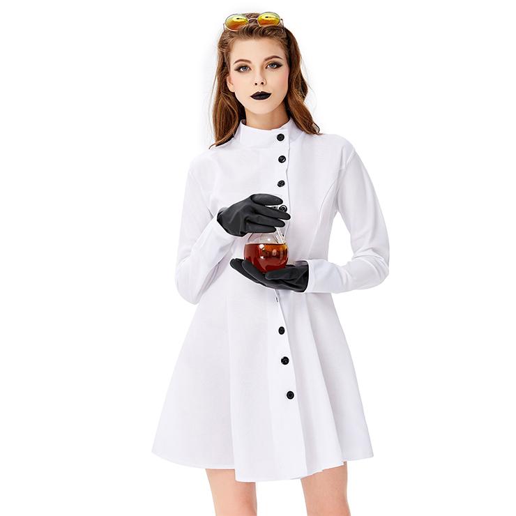 Crazy Scientist Flim Costume, Hot Sale Halloween Costume, Cheap Halloween Costume, Hot Sale Adult Lingerie Costume, Halloween Hostess Cosplay Costume, Halloween Horror Costume, #N19446