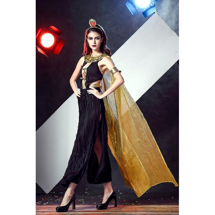 Egytian Goddess Cosplay Costume, Black Dress Costume, Halloween Costume, Cheap Costume for Women, #N11676