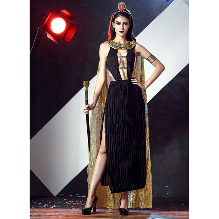 Sexy Black Egyptian Goddess Dress Costume N11676
