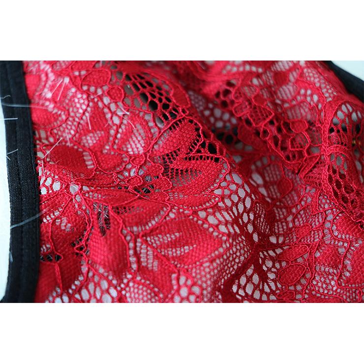 Sexy Lace Lingerie Set, Fashion Lace Bra Set, 2 Piece Thin Lace Front Buckle Bra Top Lingerie Sets, Thin Lace Bra Set Chemise, Floral Lace Bra and Panty Underwear Set, Sexy Floral Lace Bra and Panty Chemise Set, #N19379