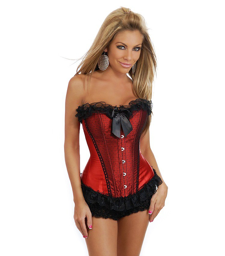 Sexy Frilly Look Corset N2737