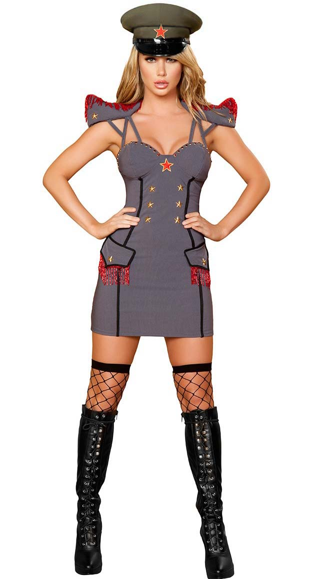 Sexy Army Costume, Cheap General Costume, Women