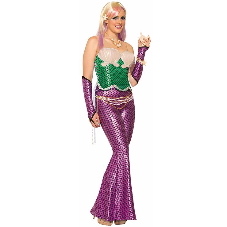 adult glittery mermaid costume