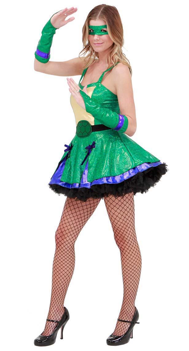 Sexy Green Ninja Turtle Costume N10444