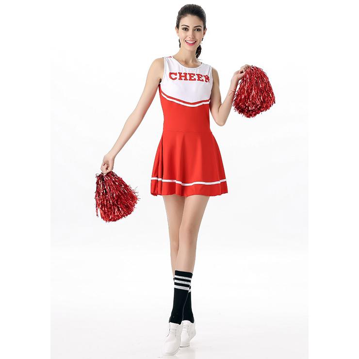 Sideline Spirit Costume, Sexy Cheerleader Costume, High School Cheerleader Costume, #N12602