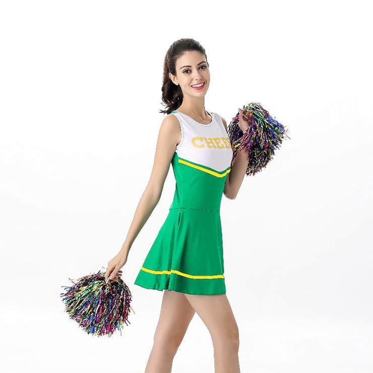 Sideline Spirit Costume, Sexy Cheerleader Costume, High School Cheerleader Costume, #N12605