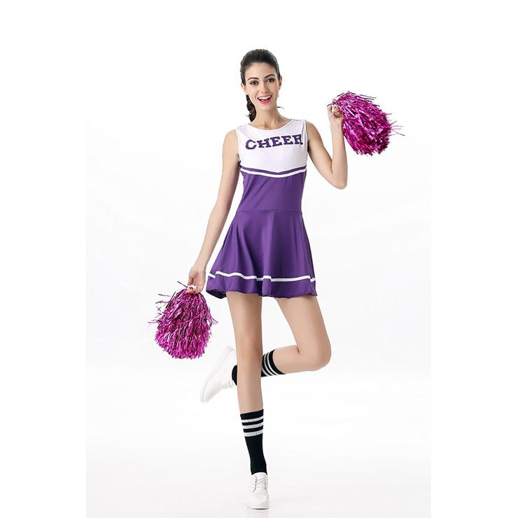 Sideline Spirit Costume, Sexy Cheerleader Costume, High School Cheerleader Costume, #N12606