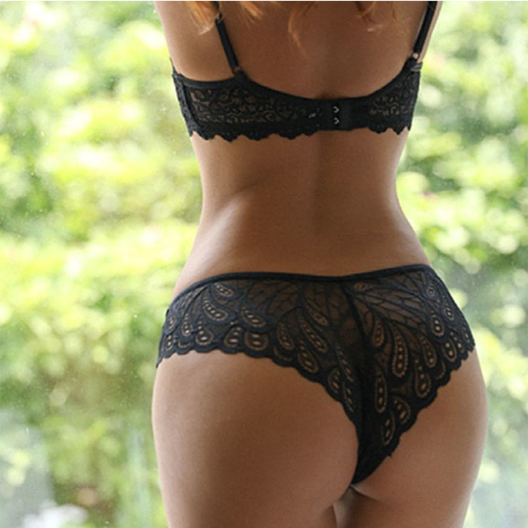 Sexy Black Lace Underwear, High Waist Panty for Women, Black Hollow Out Panty, Lace Hollow Out Panty, Sexy See-through Panty, Hollow Out Temptation Panty, #PT21289