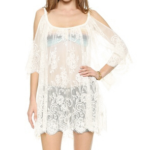 Sexy See-through Lace Off the Shoulder Blouse Tops N12739