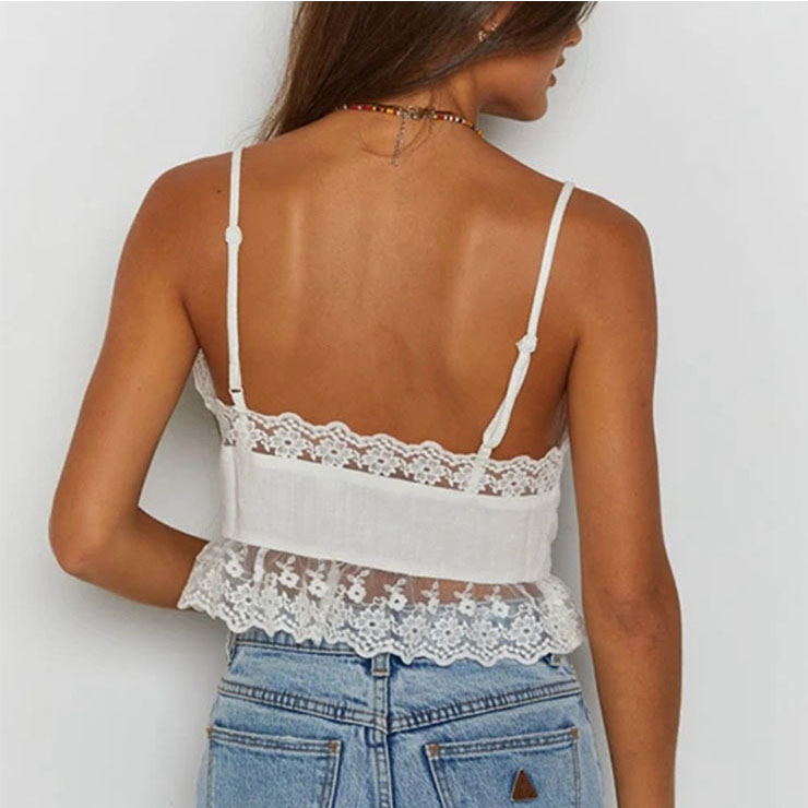 Sexy Tank Tops, Tank Top for Women, Sleeveless Tops for women, Sexy V Neck Lace-up Tank Top, Cute Women Sweet Tank Top, Sexy Stand Collar Vest, Sexy Lace Slim Camisoles, #N21115
