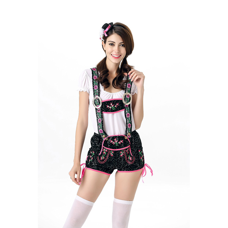 Sexy Edelweiss Lederhosen Suspender Oktoberfest Costume N11388
