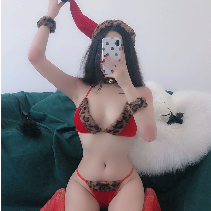 Sexy Christmas Costume, Red Velet Christmas Costume, Christmas Costume for Women, Cute Christmas Bikini Set, Miss Santa