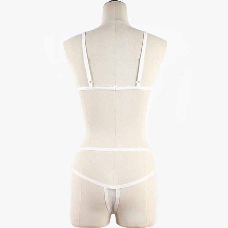 Sexy Sheer Mesh Lingerie Set, Fashion Mesh Bra Set, 2 Piece Strappy Lingerie Sets, Thin Mesh Bra Set Chemise, Sexy Mesh Bra and Panty Underwear Set, Sexy Mesh Bra and Panty Chemise Set, #N21322
