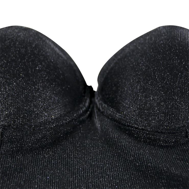 Sexy Metallic Bra Top, B Cup Bustier Bra, B Cup Bustier Bra for Women, Cool Punk Clubwear BraCrop Top, Gothic Metallic Crop Top, #N19961