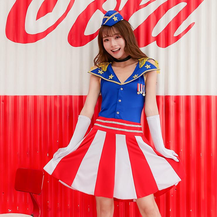 4pcs Sweet Navy Captain Policewoman Uniform Adult Cop Cosplay Costume Set N19464
