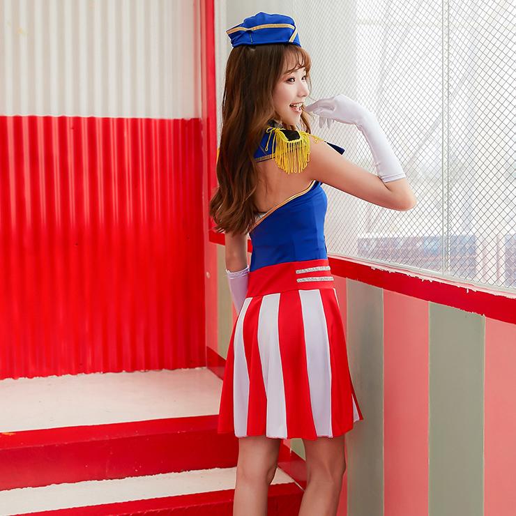 Adlut Navy Captain Epaulets Performance Costume, Women