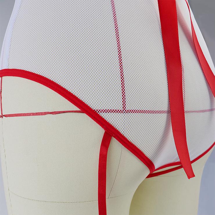 Hot Nurse Costume, Sexy Nurse Lingerie, Sexy Nurse Cosplay Costume, Nurse Teddy Lingerie, Sexy Nurse Uniform, Nurse Temptation Costume, #N19269
