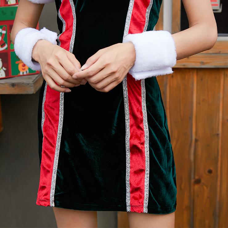 Sexy Christmas Costume, Velet Christmas Costume, Christmas Costume for Women, Cute Christmas Skirt, Miss Santa