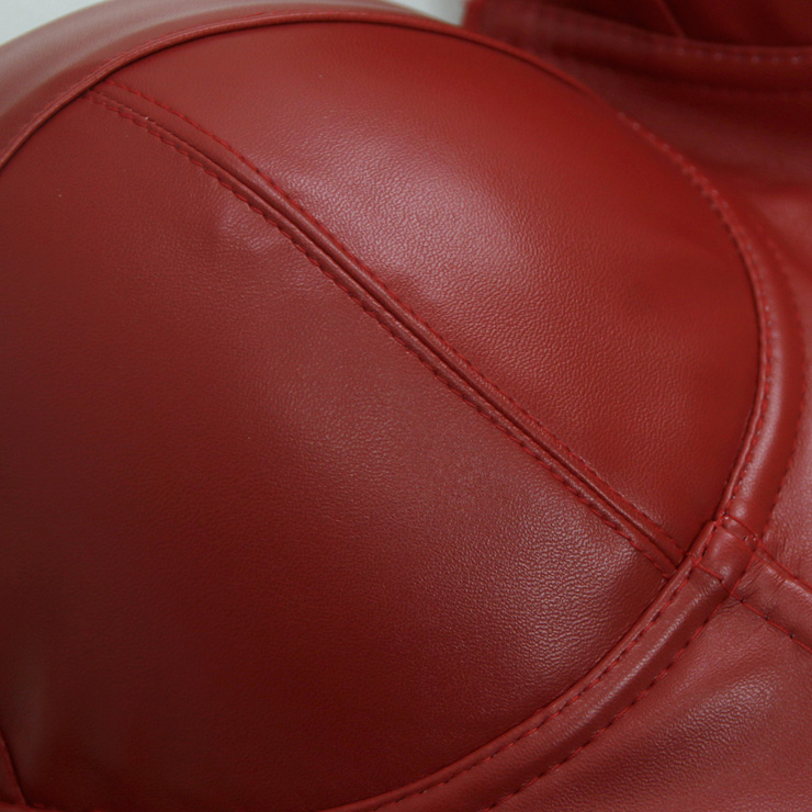 Red Strap Bustier Bra, Crop Top Vegan Leather Bustier Bra, Faux Leather Bustier Bra, Sexy Red Bustier, Spaghetti Straps Crop Top, Faux Suede Bustier, #N18604