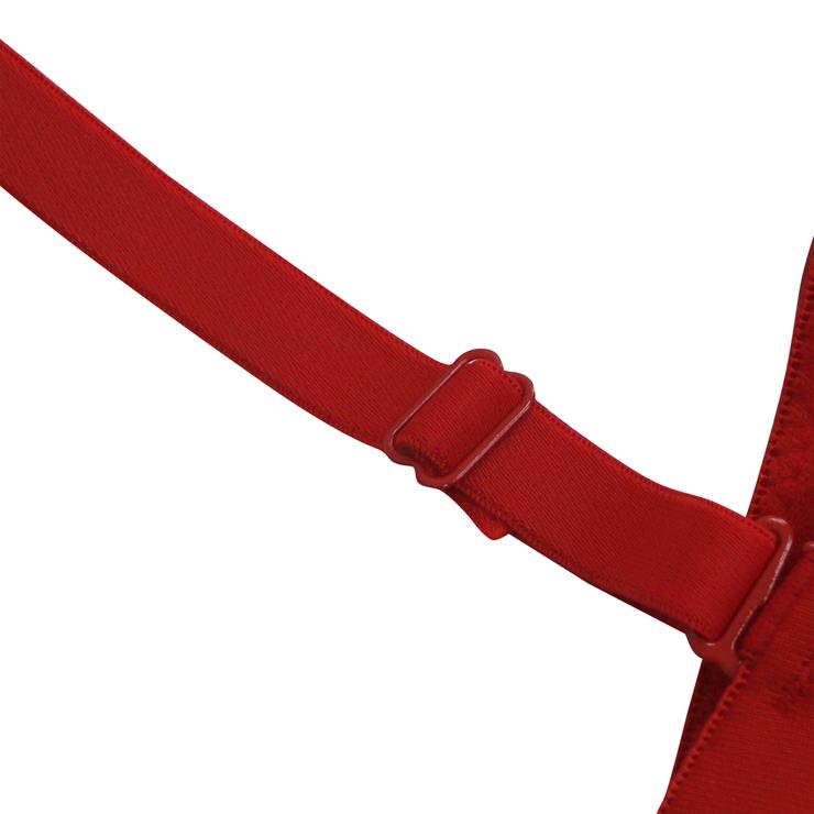 Red Strap Bustier Bra, Crop Top Vegan Leather Bustier Bra, Faux Leather Bustier Bra, Sexy Red Bustier, Spaghetti Straps Crop Top, Faux Suede Bustier, #N18604