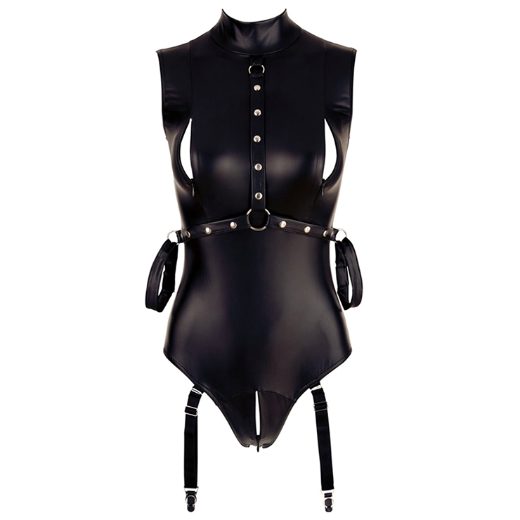 Sexy BDSM Bondage Bodysuit, Sexy Wet Look BDSM Bondage PU Leather Clothing, Clubwear Pole Dancing PU Bodysuit, Sexy S&M PVC Leather Clothing, S&M PVC Stretchy Bodysuit, #N20098
