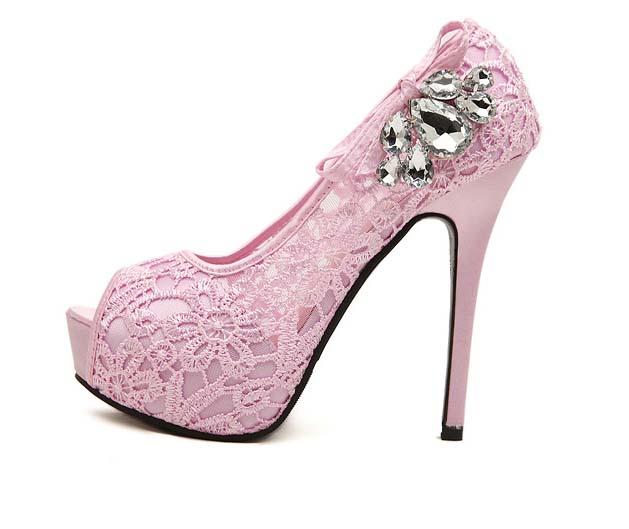 Pink Heels With Diamonds