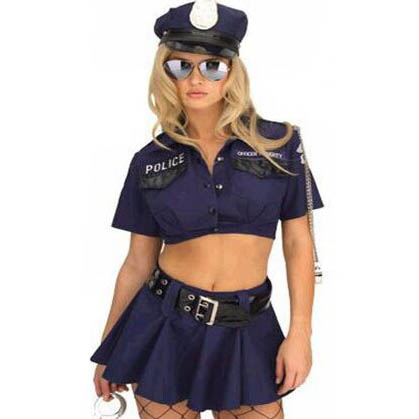 sc 1 st  MallTop1.com & Sexy Police Corrupt Cop Halloween Costume N10055