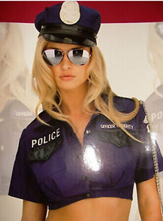 Sexy Police Costume, Cheap Police Corrupt Cop Costume, Hot Selling Halloween Costume, Women
