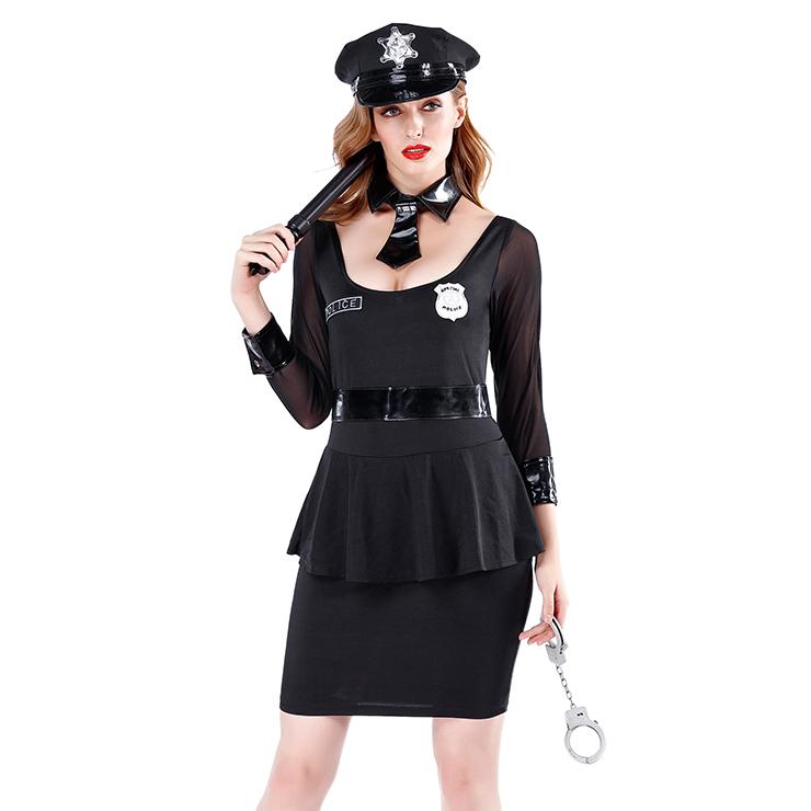 Adlut Cop Flirty Costume, Women