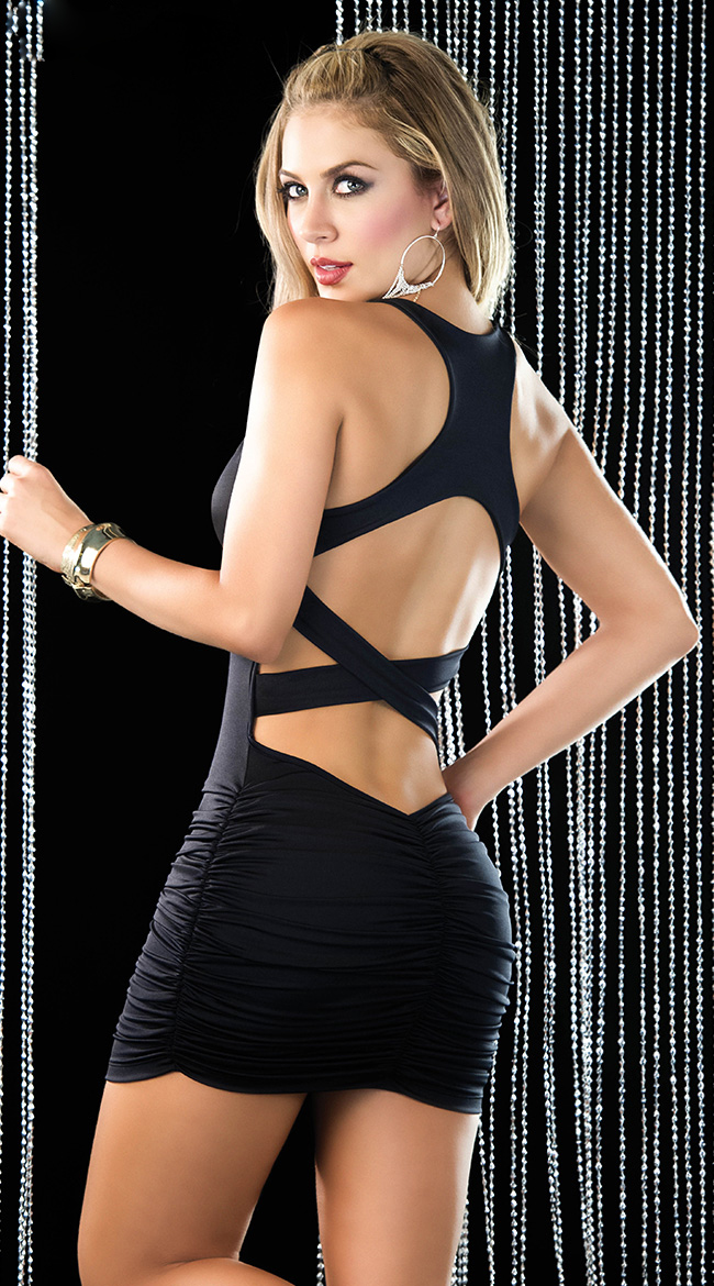 ad5e1f73a6b Sexy Racer Back Criss Cross Dress C5246