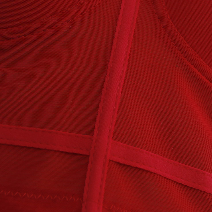 Sexy Red See-through Strap Bustier Bra, Crop Top Vegan Mesh Bustier Bra, Transparent Bustier Bra, Sexy Red Bustier, Spaghetti Straps Crop Top, Sexy Clubwear Bustier, #N18608