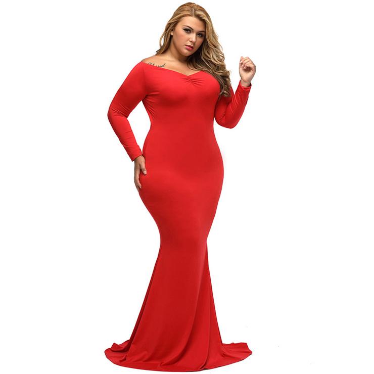 Sexy long sleeve maxi dresses