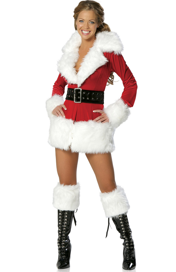 Sexy ladies santa christmas fancy dress costume xt