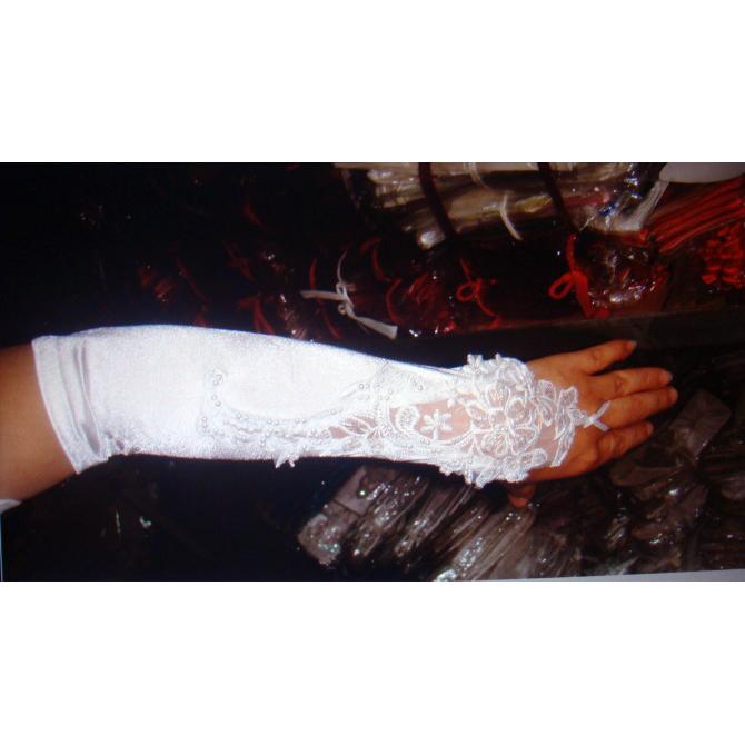 Sexy Satin elbow length gloves HG1964