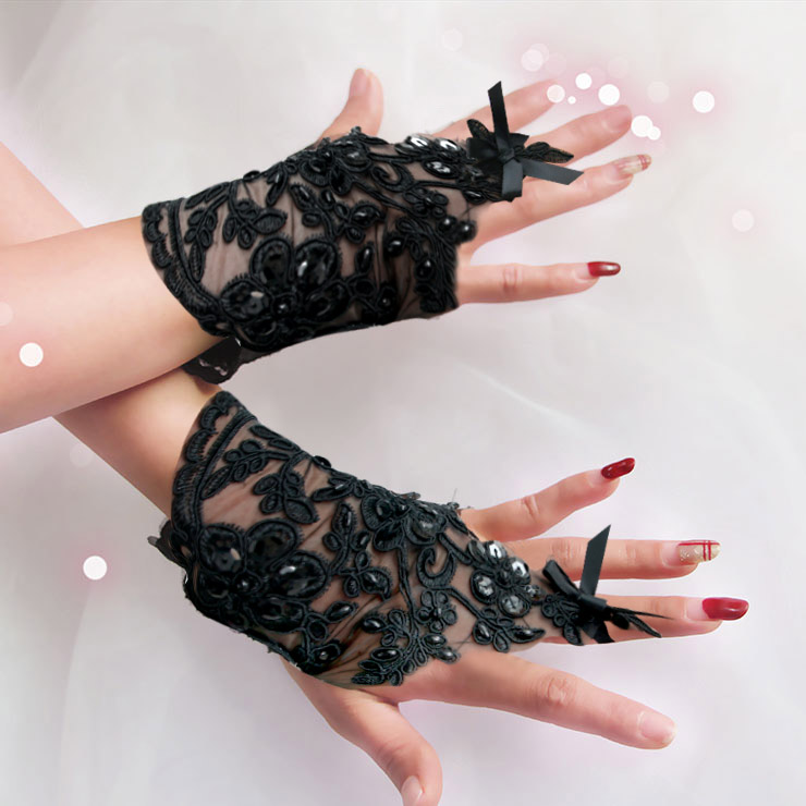Sexy Accessory,Lace Gloves, Sexy Gloves, Sexy Fingerless Gloves, Gloves Wholesale,Lolita Lace Gloves, Cosplay Accessory, #HG20217