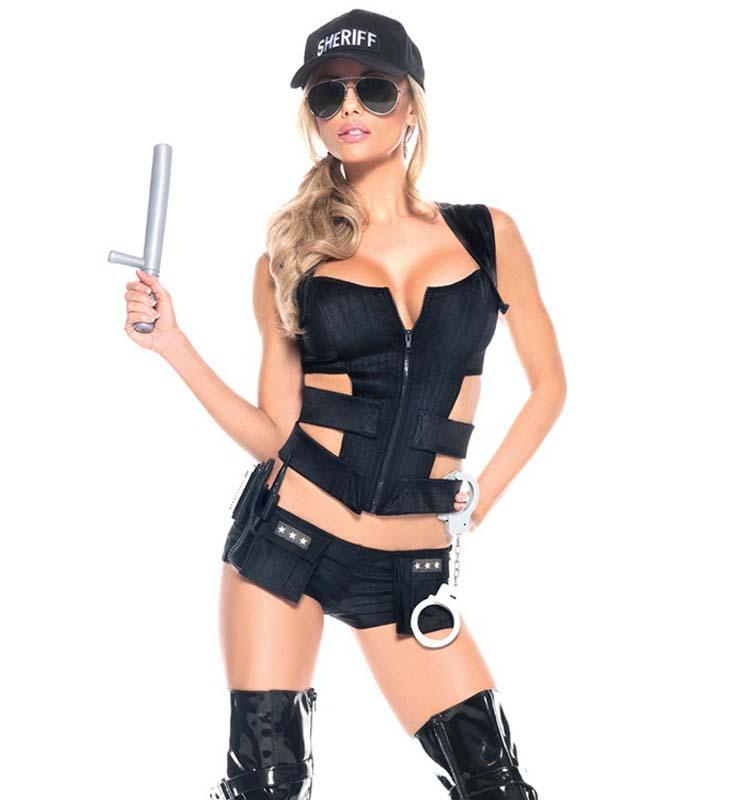 Sexy Sheriff Costume Set N10479