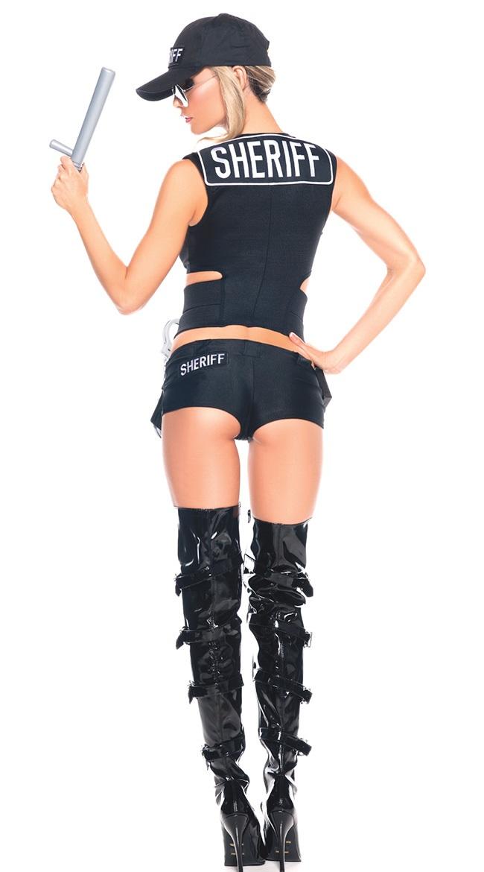 Sexy Police Costume, Halloween Costume, Hot Sale Cop Costume, Cheap Sheriff Costume Set, #N10479