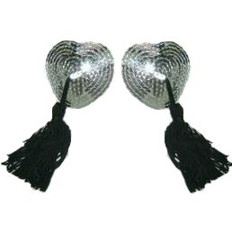 Sexy Silver Heart Pasties MS7277