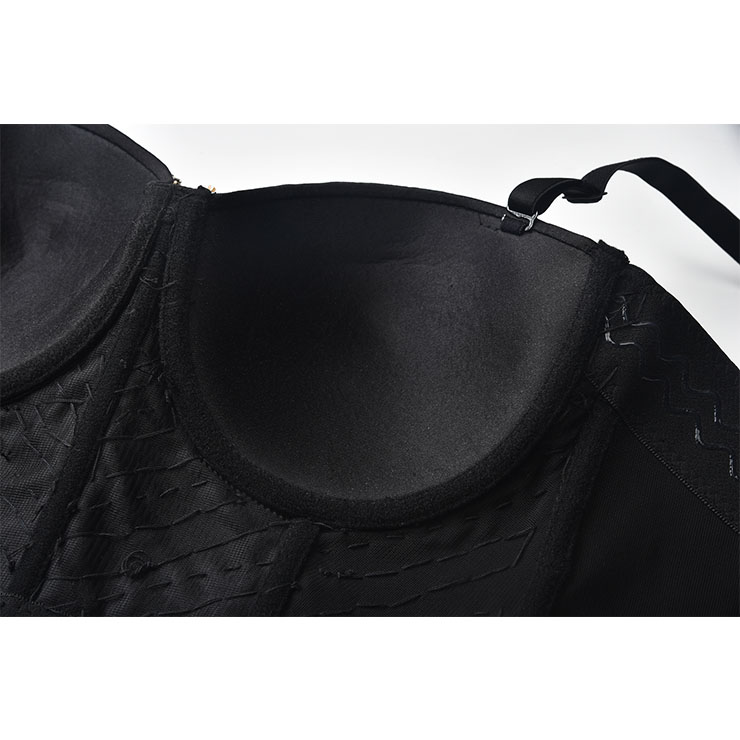 Sexy Tube Beading Strap Bustier Bra, Crop Top Vegan Bustier Bra, Sexy Bustier Bra, Sexy Black Bustier, B Cup Spaghetti Straps Crop Top, Sexy Clubwear Bustier,Clubwear Crop Top, #N20960