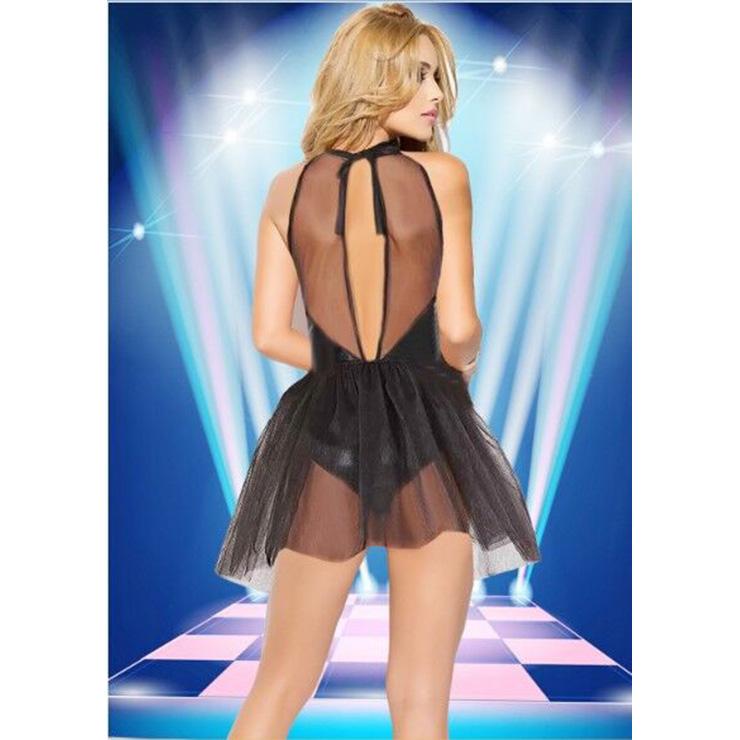Black Dress for women, Lightening Bodysuit With Skirt, Women