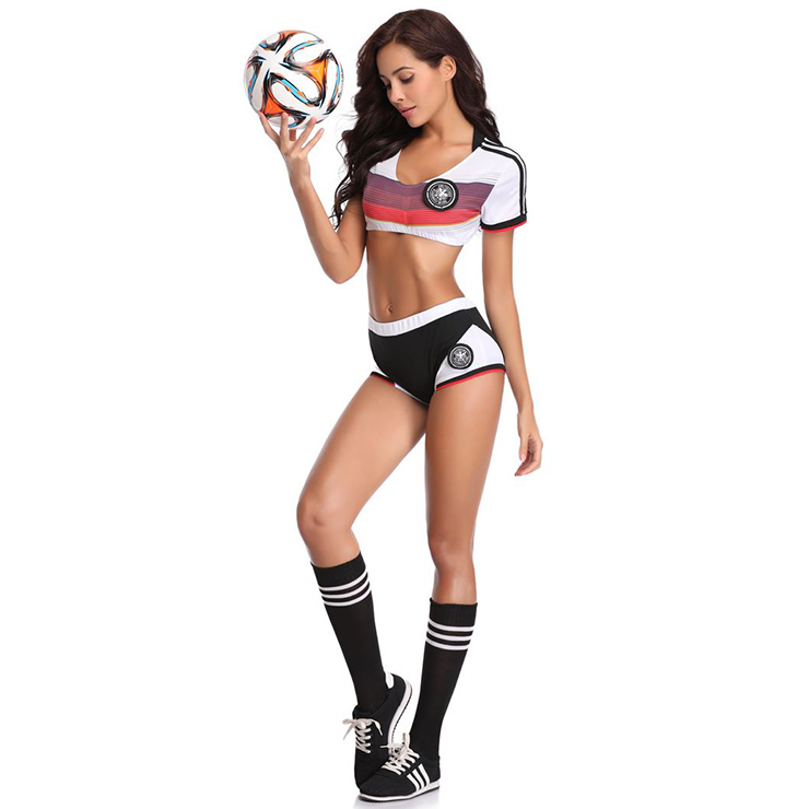 Football Player Costume for Women, World Cup Costume, Football Baby Cosplay Costume, Fantasy Football Costume, #N16840
