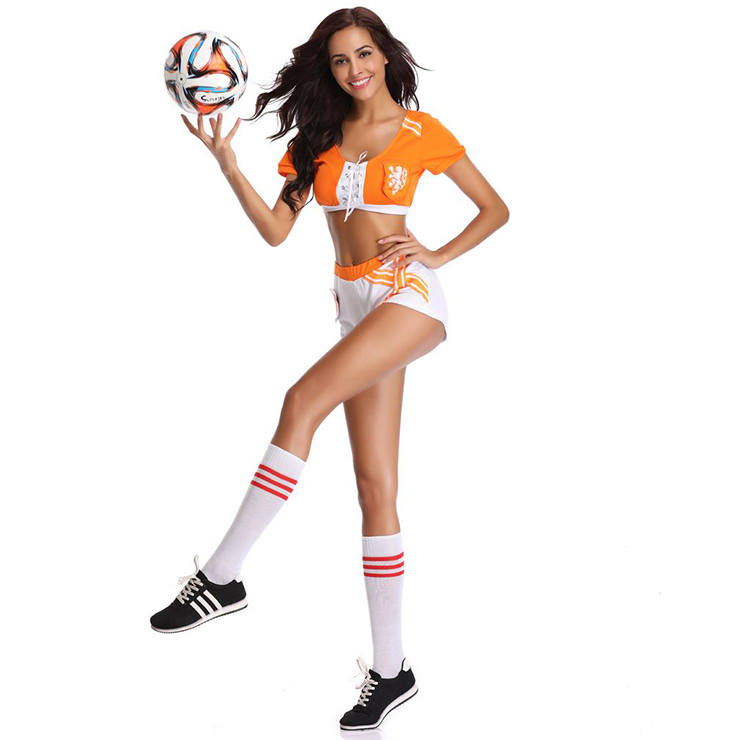 Football Player Costume for Women, World Cup Costume, Football Baby Cosplay Costume, Fantasy Football Costume, #N16841