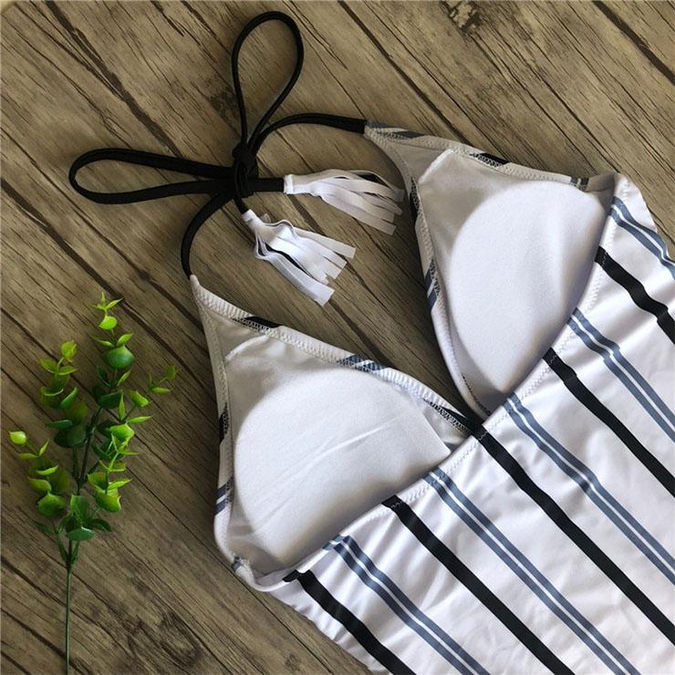 Backless One-piece Swimsuit, Low Cut Bodysuit Lingerie, Sexy Adjustable Straps Swimsuit Lingerie, Fashion Backless One-piece Beachwear, #BK17962