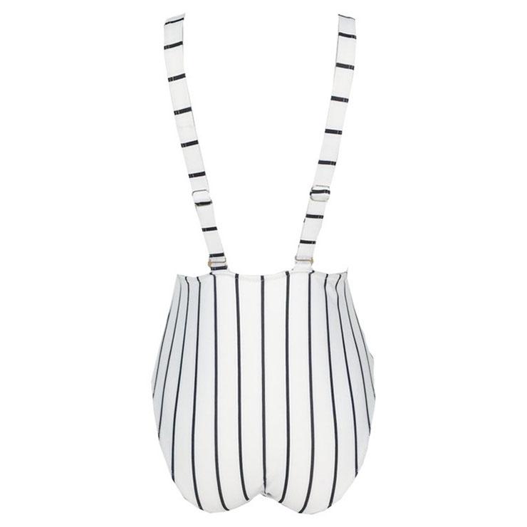 Backless One-piece Swimsuit, Low Cut Bodysuit Lingerie, Sexy Adjustable Straps Swimsuit Lingerie, Fashion Backless One-piece Beachwear, #BK17963