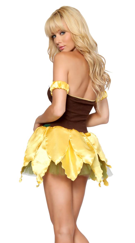 Sexy Sunflower Costume, adult Sunflower Costume, Sexy Sun flower Costume, Adult Halloween Cosplay Costume, Women