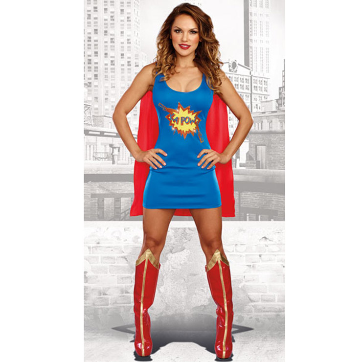 2 Piece Sexy Super Women Role-playing Costume N15465